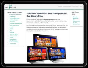 Samuelson Dokumentation: Produktseite